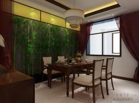 中式餐厅效果图  中式家居装修效果图
