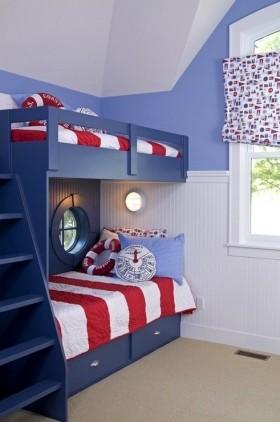 地中海儿童房装修效果图  双胞胎儿童房装修效果图