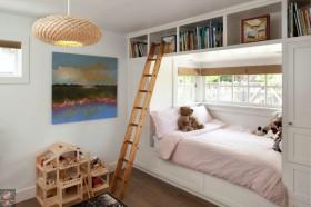 最新儿童房卧室飘窗装修效果图