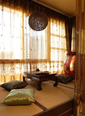 客厅榻榻米飘窗装修效果图
