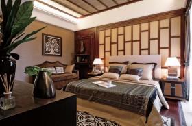 中式主卧室装修设计图