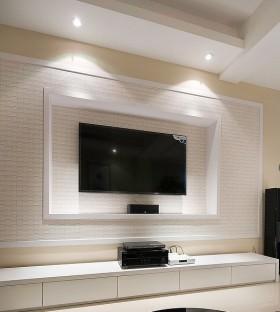 硅藻泥电视背景墙装修效果图片