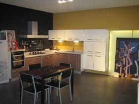 欧式厨房橱柜装修效果图 厨房餐厅一体装修图片