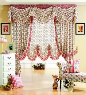 田园风格客厅窗帘图片