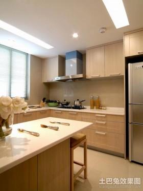 简约风格开放式厨房橱柜装修效果图片