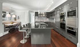 开放式现代厨房吧台装修效果图欣赏