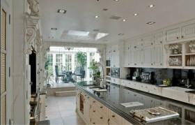 别墅欧式开放式厨房装饰效果图欣赏