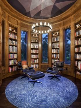 欧式书房装修效果图  家庭书房装修设计图片