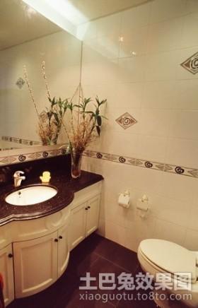 三居室卫生间欧式三居洗手间装修效果图