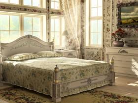 田园卧室窗帘装修效果图  卧室窗帘装饰图片