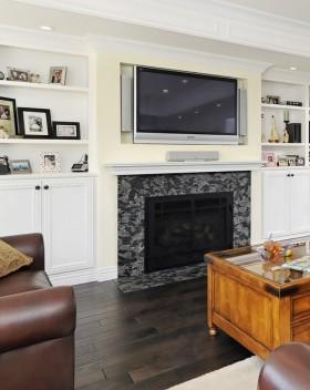 欧式壁炉电视背景墙装修效果图大全图