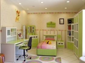 儿童房与书房一体化效果图  儿童房装修效果图大全