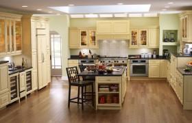 欧式厨房实木橱柜装修效果图