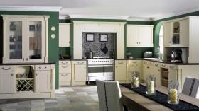 欧式田园简单开放式厨房装修效果图大全