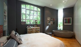 东南亚风格复式阁楼卧室装修样板房