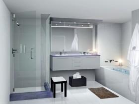 卫生间设计效果图  现代风格7平方卫生间装修效果图