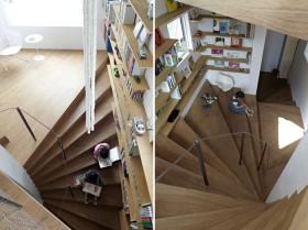 美式书房装修效果图  楼梯书房装修设计图片
