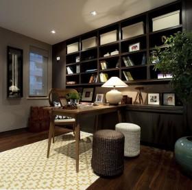 中式书房装修效果图  书房装饰效果图