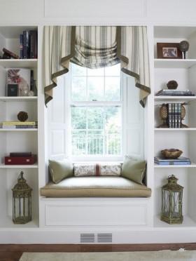 客厅飘窗装修效果图   欧式飘窗窗帘效果图