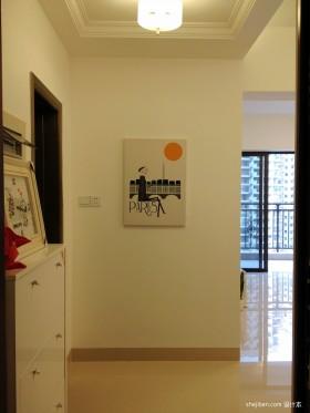 两室一厅90平装修玄关墙上装饰效果图