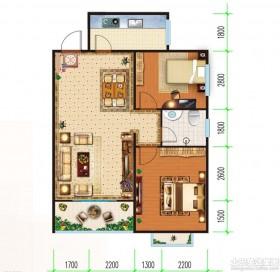 两室一厅房子设计平面图-装修效果图大全2017图片 装修设计图欣赏 图片