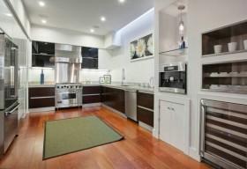 现代L型开放式厨房装修效果图大全