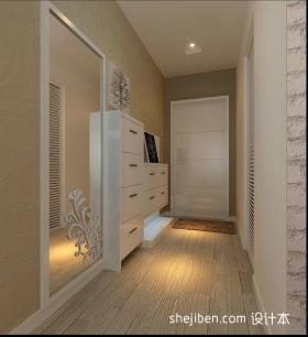 两室一厅90平装修进门玄关效果图