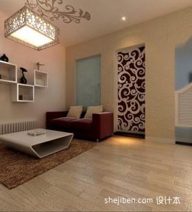 两室一厅客厅吊顶设计效果图