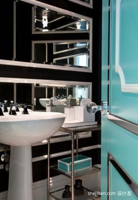 四室两厅卫生间装修效果图  现代洗手间装修图片