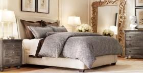 欧式风格卧室装修效果图大全 简约床头大镜子装修效果图