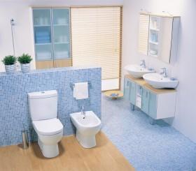 厕所装修效果图  地中海洗手间装修效果图