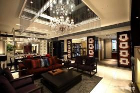 新中式大客厅吊顶效果图