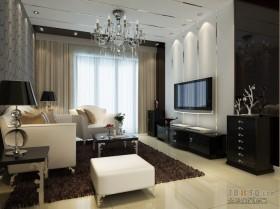 两室两厅客厅装修图  客厅吊顶装修效果图