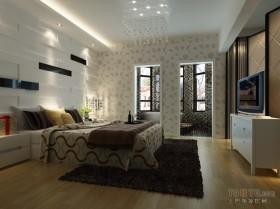 两室两厅卧室装修效果图  现代卧室卫生间装修效果图