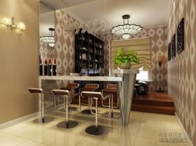 两室两厅餐厅装修效果图  餐厅吧台装修设计图片