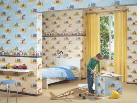 儿童房背景墙装修效果图  儿童房背景墙效果图