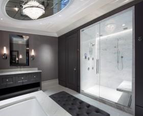 现代卫生间隐形门设计