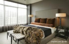 现代两室一厅主卧是装修效果图