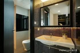 两室一厅小卫生间装修效果图  小面积洗手间装修效果图