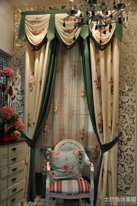 欧式风格窗帘欧式田园风格窗帘布艺贴图
