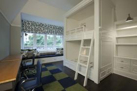 飘窗改书桌  双层卧室飘窗装修效果图