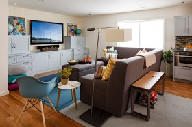 現代風格小客廳裝修效果圖
