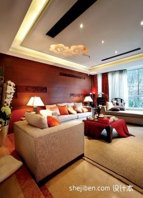 2013年新中式客厅装修效果图