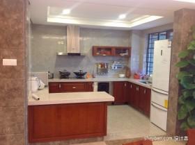 现代简约厨房中式装修效果图    中式装修效果图大全2013图片