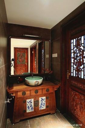 中式风格卫生间装修图片 2013新中式卫生间装修效果图图片
