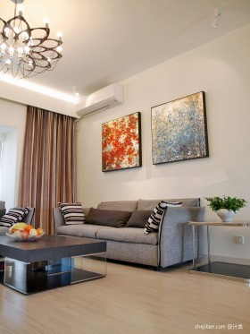 2013最新客厅装修效果图  两室两厅客厅装修图片
