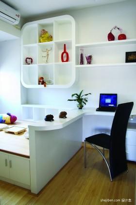 两室两厅书房装修效果图  现代书房装修效果图大全2013图片