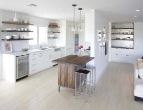 现代简约厨房隔断墙装修图片