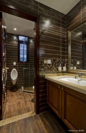 空间中式风格冷色洗手台图片列表