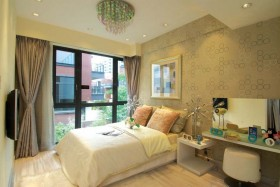 两室一厅90平装修卧室效果图